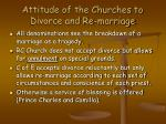 attitude of the churches to divorce and re marriage