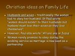 christian ideas on family life