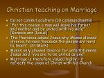 christian teaching on marriage
