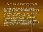 teaching on marriage cont