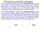 inversion symmetry elements