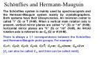 sch nflies and hermann mauguin