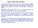 special point groups