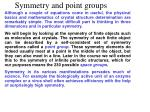 symmetry and point groups