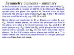 symmetry elements summary