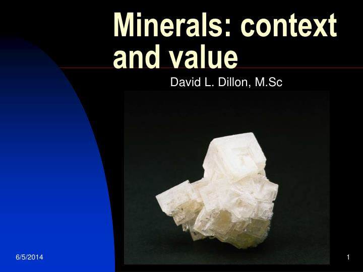 minerals context and value n.