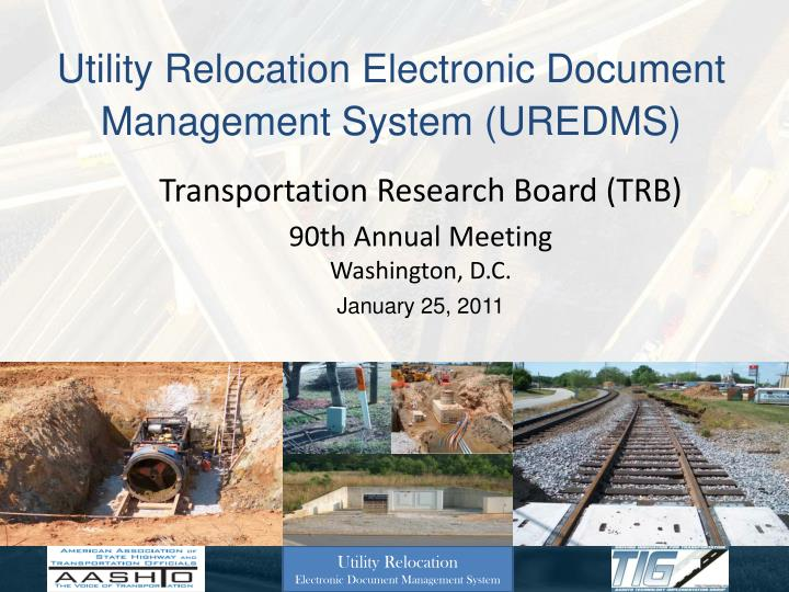 utility relocation electronic document management system uredms n.