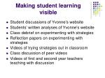 making student learning visible