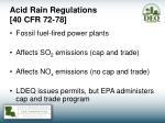 acid rain regulations 40 cfr 72 78