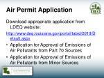 air permit application