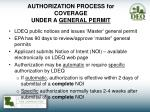authorization process for coverage under a general permit