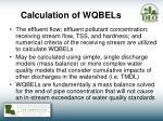 calculation of wqbels