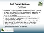 draft permit decision