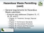 hazardous waste permitting cont1