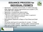 issuance process for individual permits