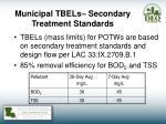 municipal tbels secondary treatment standards