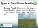 types of solid waste permits2