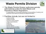 waste permits division