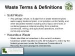 waste terms definitions