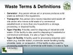 waste terms definitions1
