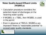 water quality based effluent limits wqbels