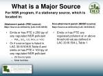 what is a major source