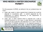 who needs a water discharge permit2