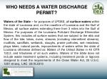who needs a water discharge permit4