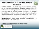 who needs a water discharge permit5