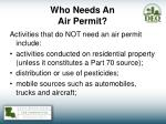 who needs an air permit1