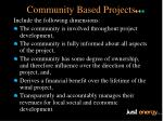 community based projects