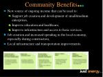 community benefits1