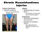 chronic musculotendinous injuries1