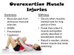 overexertion muscle injuries