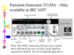 function generator 33120a only available in jec 4107