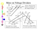 more on voltage dividers