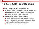 10 more sole proprietorships