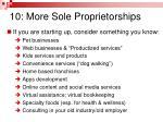 10 more sole proprietorships1