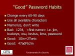 good password habits