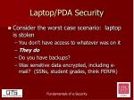 laptop pda security