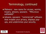 terminology continued1
