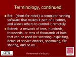 terminology continued2