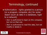 terminology continued4