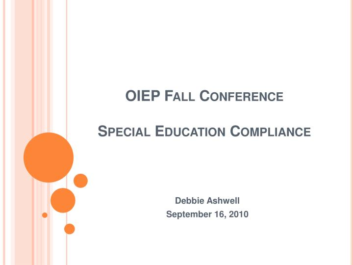 oiep fall conference special education compliance n.