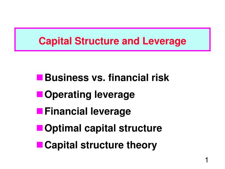 capital structure and leverage n.