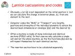 lattice calculations and codes