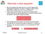 matrices hill s equation