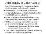 joint annuity in chile cont d