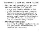 problems 1 cost and moral hazard