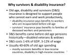 why survivors disability insurance